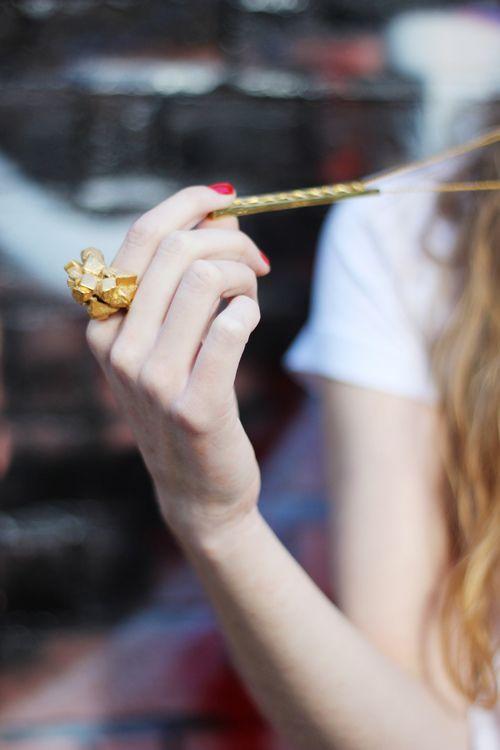 Gold Costume Ring - British Designer Imogen Belfield - Shop at www.aprilandthebear.com