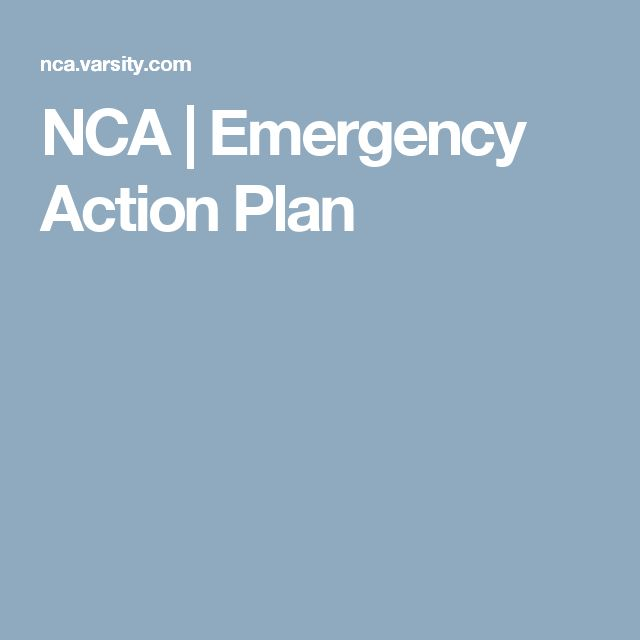 NCA Emergency Action Plan cheer plans Pinterest Emergency - emergency action plans