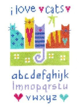 cat sampler cross stitch    this site has some lovely kits to buy