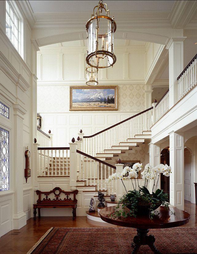 glamour white classic design Home luxury Interior