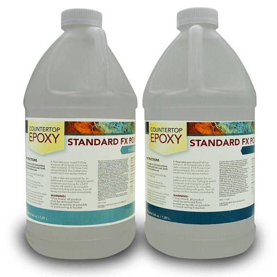 FX Poxy  Clear Epoxy Resin  20 sq ft  Coat over Art