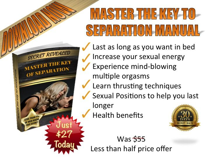 Joey Wright Key To Separation Manual Review - Is Last Longer In Bed Book Work author Joey Wright created brand unique book named Key To Separation Manual