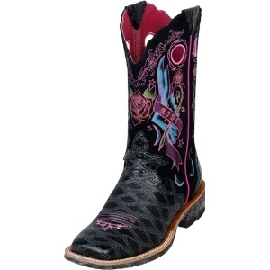 Ariat Black Anteater Print Cowgirl Boots