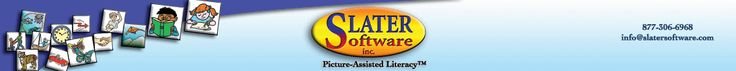 Tons of ready made visuals to print - Slater Software, Inc. header
