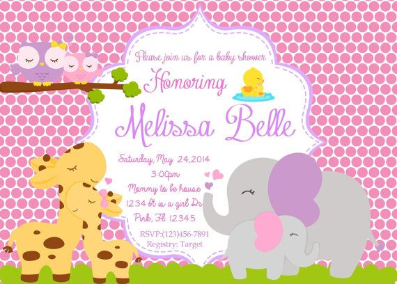 Mommy and Baby Animal Baby Shower Printable by dioraspartydesigns, $5.00