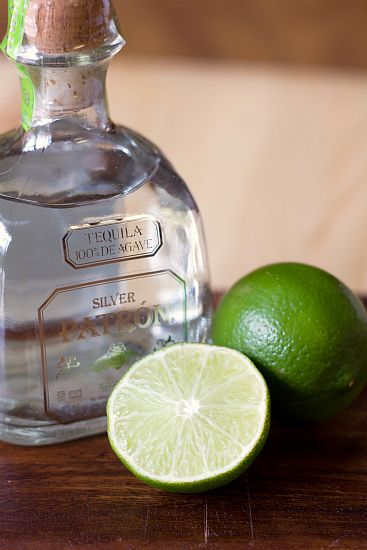 Tequila and limes - essential ingredients for margarita cupcakes!