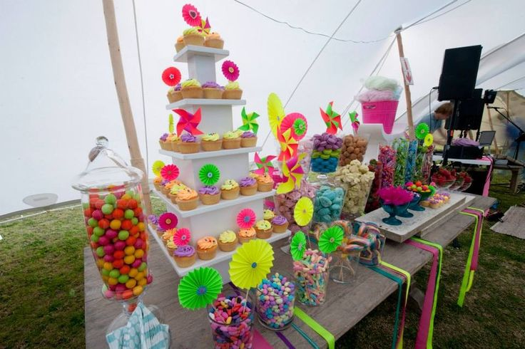 #neon #lumo #desserttable  Well done to Nguni Catering @Natalie Jost Ray  & Clare's Cakes
