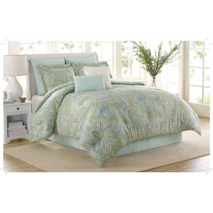 Soho New York Home Sea Glass  Piece King Comforter Set