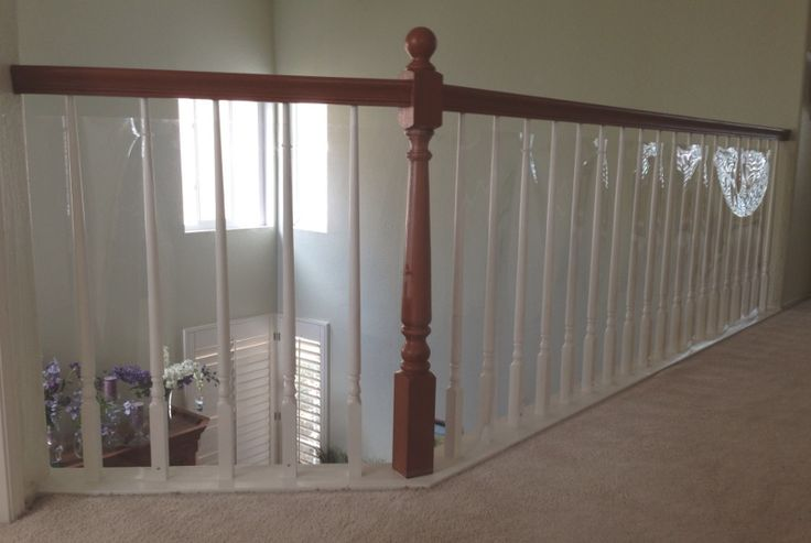 Baby Proof Stair Railing Safety Mesh See Deck Railing