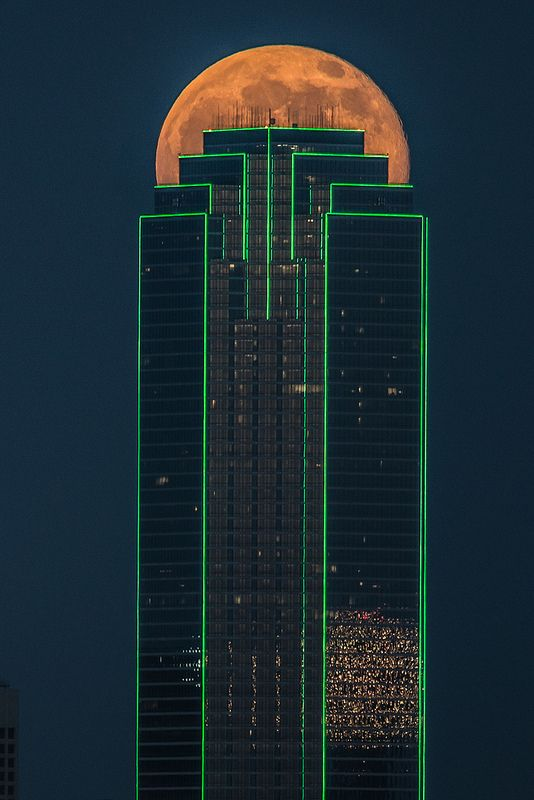 Supermoon, Dallas