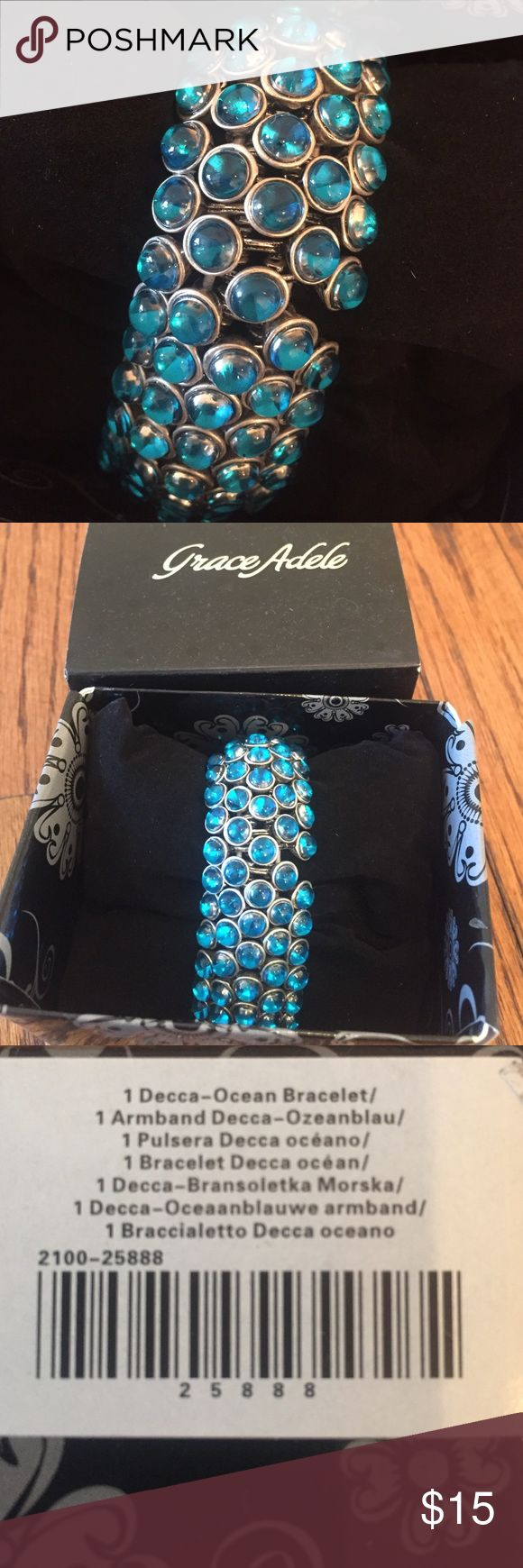 NEW Grace Adele Decca Bracelet NWT In Ocean Color Grace Adele Jewelry Bracelets