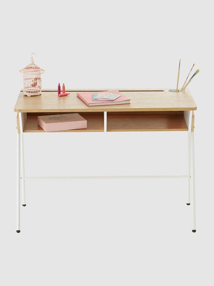 Moderner Kinder Schreibtisch von Vertbaudet in eiche/weiß - Nur € 2,95 Versand! Kinderzimmer jetzt bei Vertbaudet bestellen!