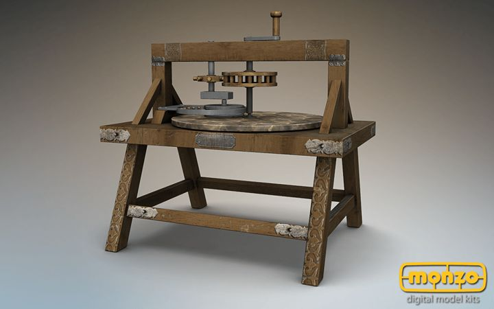 Leonardo was pioneer in designing devices for creation and polishing of optical devices. The polishing machine was meant for polishing telescope mirrors, which in his period were made of bronze. #Monzo #PolishingMachine #DaVinci