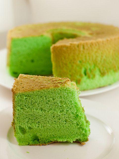 Pandan Chiffon Cake_009 by myfoodtrail, via Flickr