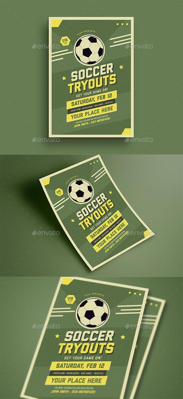 soccer tryouts flyer for 7 envato flyer sport flyertemplate