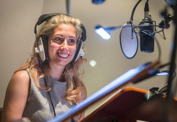 The lovely Stacey Solomon recording her part in @PipAhoyUK