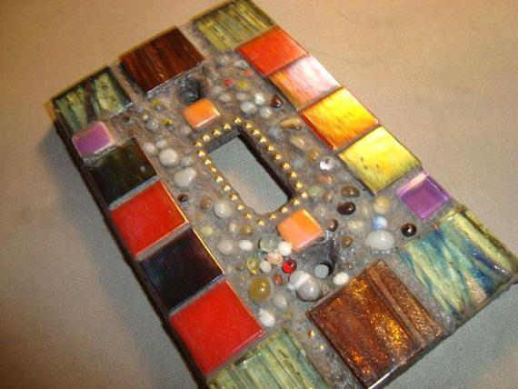 MOSAIC Light Switch Plate   Single Switch Wall Plate Wall