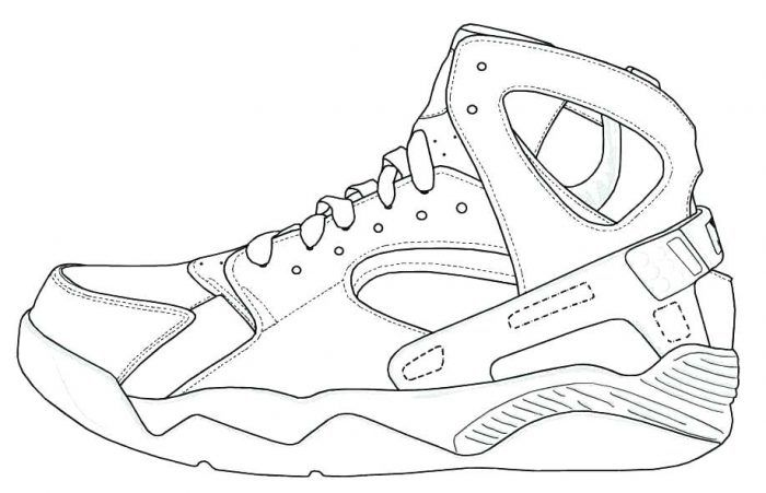 Kobe Bryant Shoes Coloring Pages