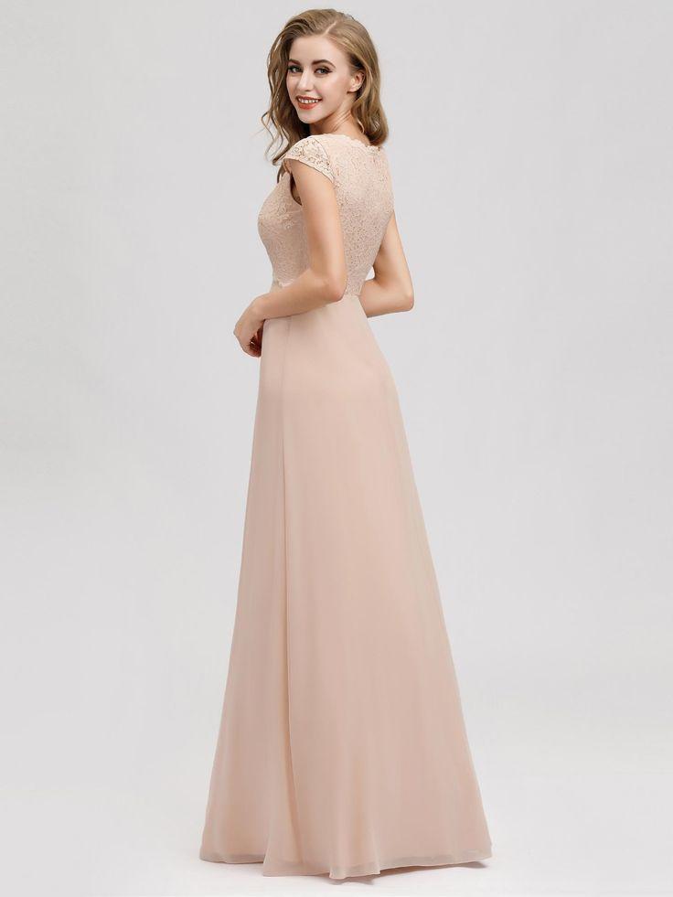 Women's A-Line V-Neck Cap Sleeve Bridesmaid Dress | Ever ...