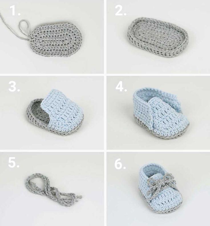 Tığ İşi Bebek Patiği Nasıl Yapılır