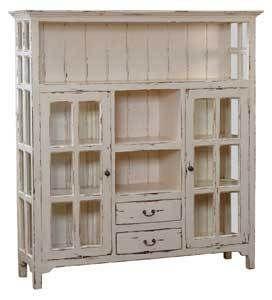 Distressed White Kitchen Cabinets Kitchen Cupboard Display Cabinet Bookcase Cabinet Distressed Mahogany