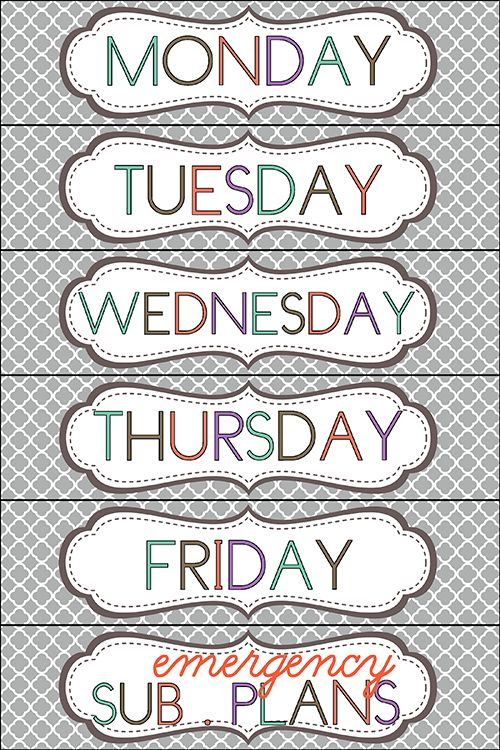 organize weekly papers - free printable drawer labels