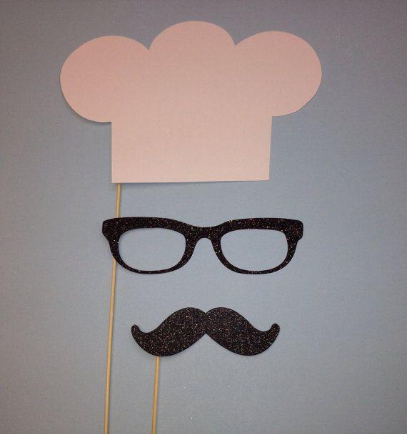 Foto Booth Props 3 conjunto pieza Chef por CraftingbyDenise