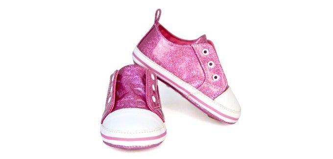 Trumpette Babyschoentjes Glitter Roze Tennis Stoere instappers! Trumpette babyschoentjes in de kleur Roze. Geschikt voor peuters van 12 tot 24 maanden.  Verkrijgbaar in de kleuren: Roze en Grijs