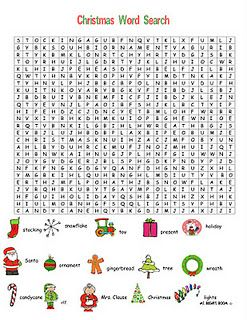 3 free Christmas word searches