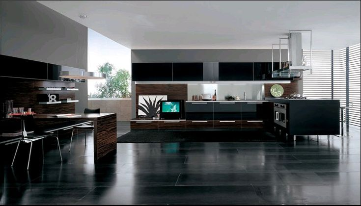 Modern kitchens and kitchen chairs on pinterest for Luxury modern kitchen