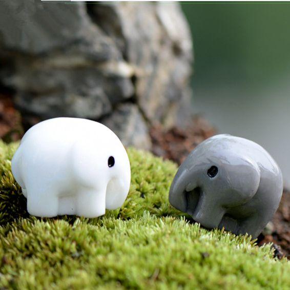 Nuovo stile cute elephant fairy garden miniature mini gnomes moss terrari mestieri della resina figurine per la decorazione del giardino zakka