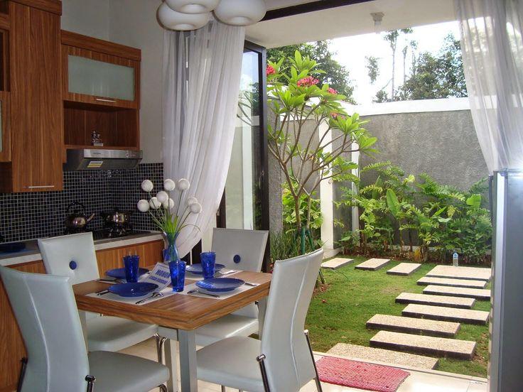 Contoh gambar desain dapur terbuka di belakang rumah