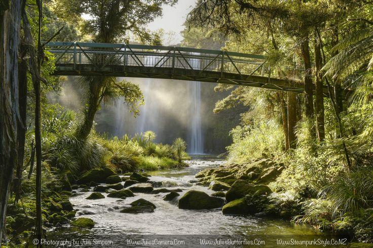 https://flic.kr/p/GvqXHc | Whangarei waterfall and bridge glow.jpg