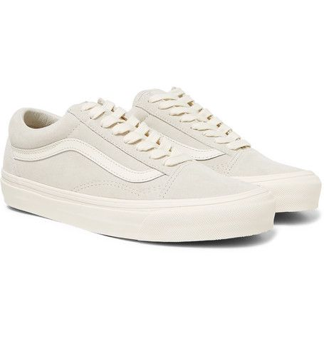 ad94c3b28e VANS OG OLD SKOOL LX LEATHER-TRIMMED SUEDE SNEAKERS - OFF-WHITE.  vans   shoes
