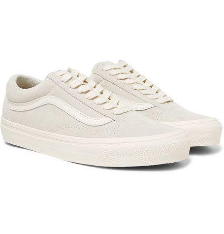328e3019f2 VANS OG OLD SKOOL LX LEATHER-TRIMMED SUEDE SNEAKERS - OFF-WHITE.  vans   shoes