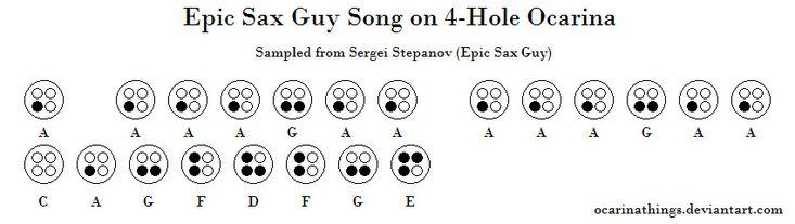Epic Sax Guy Song on 4-Hole Ocarina by ocarinathings.deviantart.com on @deviantART