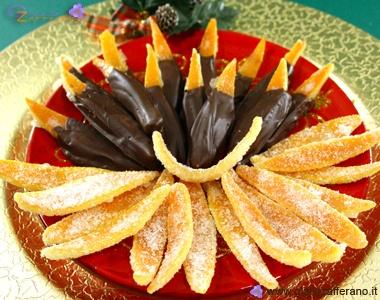 Scorze di arance candite al cioccolato