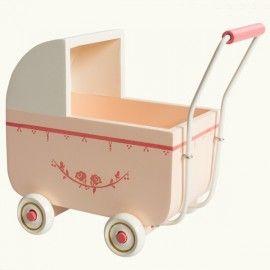 maileg landau de poupée rose+ parure lit (3 tailles)