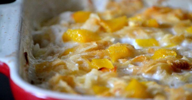 Zdrowy i smaczny deser dlakażdego:)   Składniki :   1 - 1. 1/2 szklanki ryżu  1 puszka brzoskwiń w syropie (411 g razem z puszka :) ...