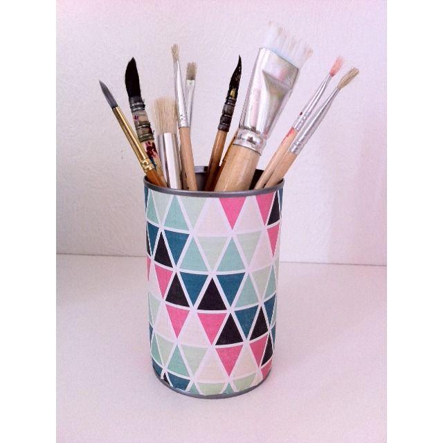Pot à crayon original et décoratif pour égayer votre bureau à la rentrée : Boîtes, coffrets par maona-bougie
