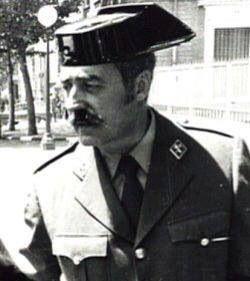 Teniente Coronel Antonio Tejero Molina. Vilmente manipulado por un ente superior, para que el 23 de febrero de 1981, realizara un fallido golpe de Estado.