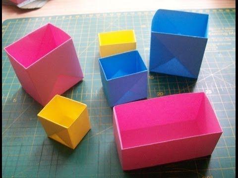 Очень простые поделки из бумаги - коробочка оригами. Easy origami box