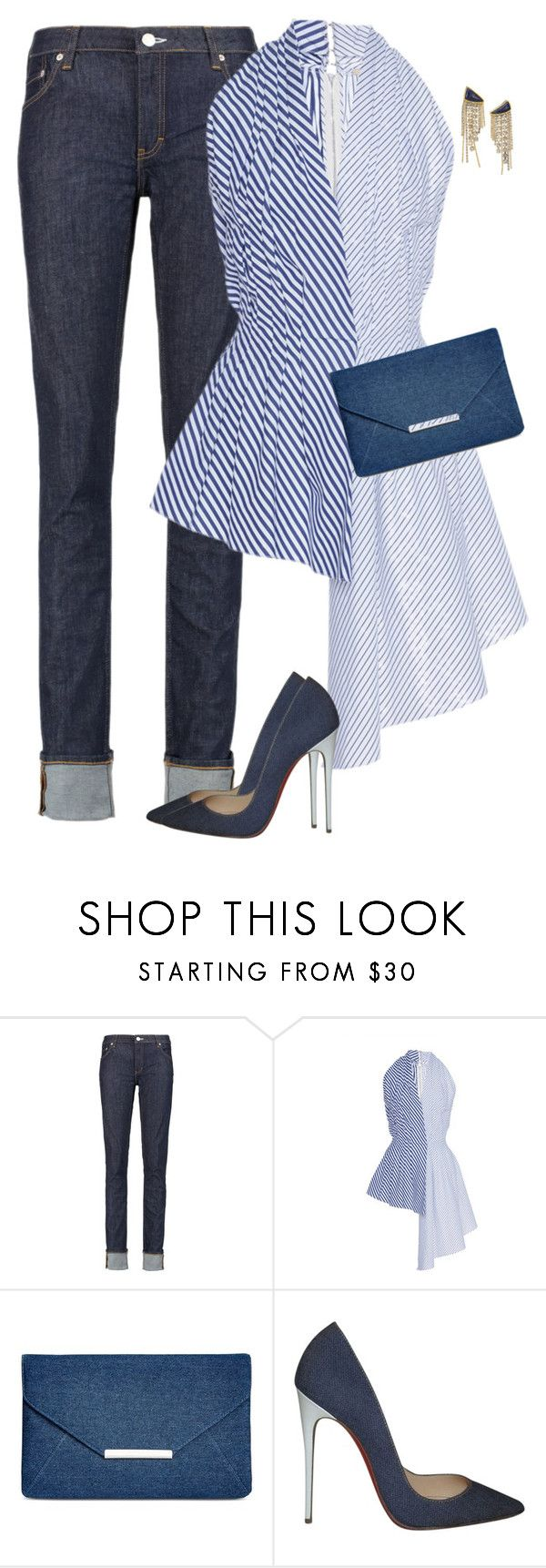 """""""Untitled #6578"""" by lisa-holt ❤ liked on Polyvore featuring Acne Studios, ADAM, Style & Co., Christian Louboutin and Lizzie Fortunato"""