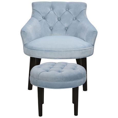 Abigail Chair & Ottoman | Freedom Furniture and Homewares