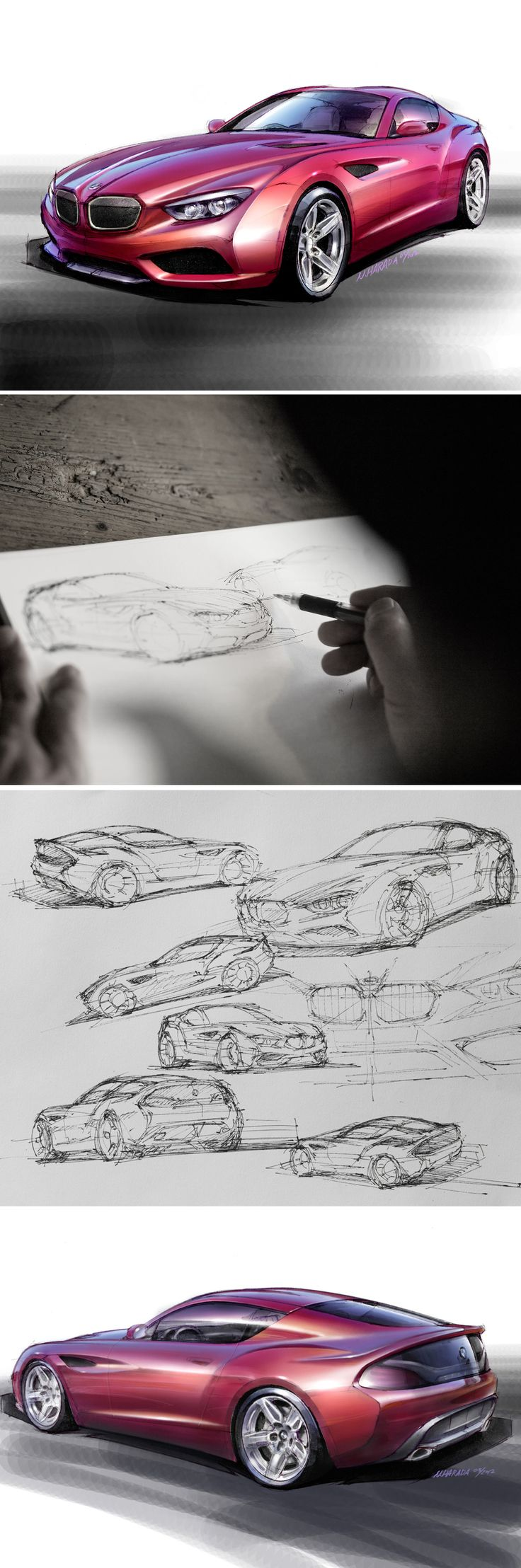 BMW - Zagato Design, BMW Sportscar - Great supercar design sketches & 3D
