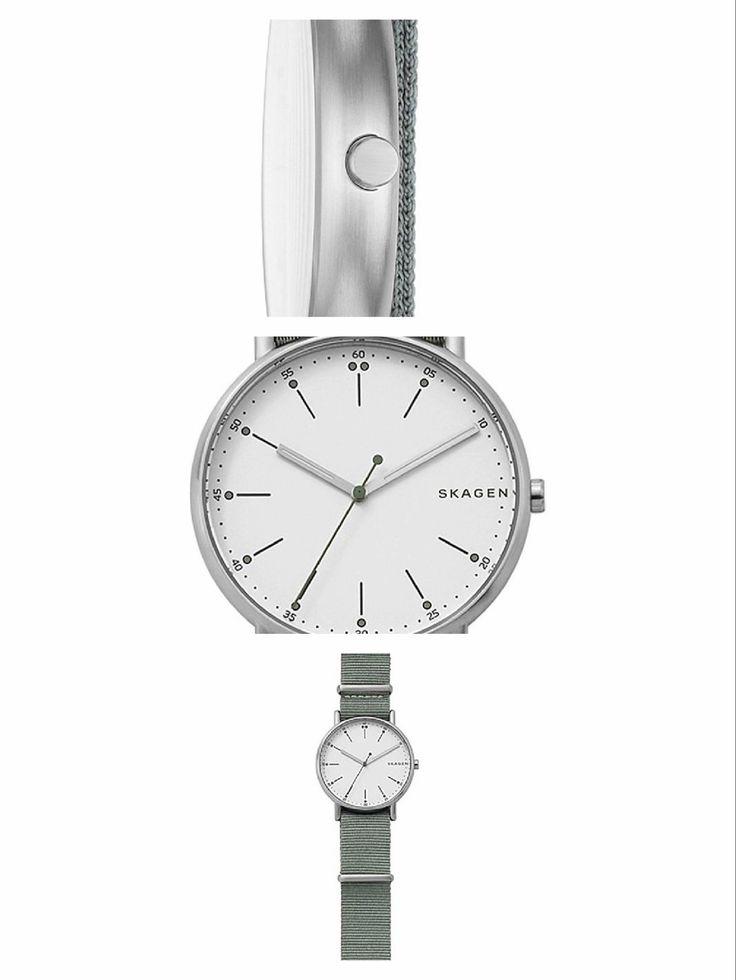 Superthin watch with a great scandinavian design. SKAGEN Signatur NATO. Superb lines packed in a strong, slim case. #SKAGEN  #KhaValeri www.pinterest.com/KhaValeri/    kha_amz_SKAsignatur2805_v14