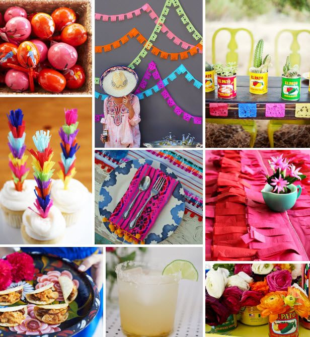 Mood Board Monday: Fiesta (http://blog.hgtv.com/design/2014/05/05/mood-board-monday-fiesta/?soc=pinterest)Design Inspiration, Mood Boards, Mexicans Parties, Boards Mondays, May 5, Parties Ideas, Blog Design, Fiestas Cinco, Parties Time