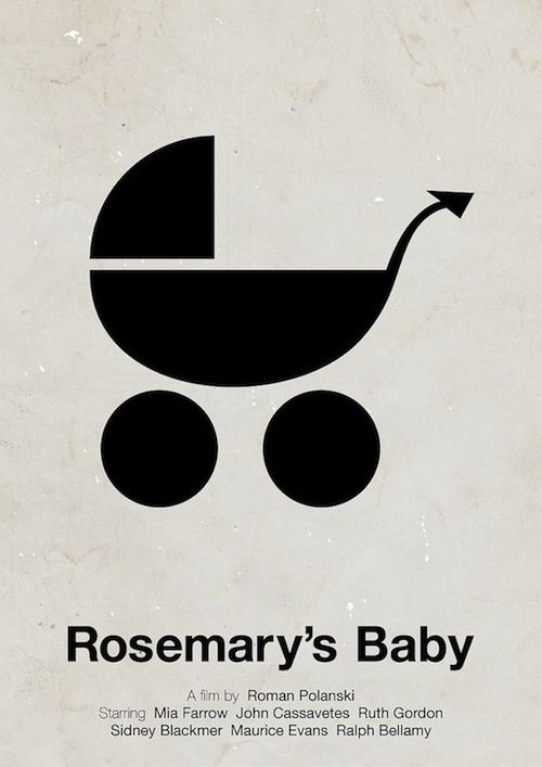 Pictogram Movie Posters: Rosemary's Baby