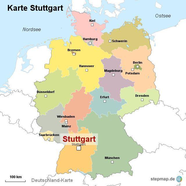 deutschland karte stuttgart stuttgart deutschlandkarte   Neupic   #Deutschlandkarte #Neupic