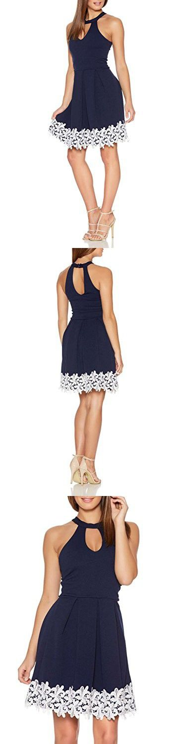 Fantaist Women's Cocktail Dress Halter Swing Lace Dresses For Special Occasions (14/16, Royal Blue)